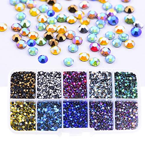 TZ0444,6x8mm PENVEAT Diamantes de imitaci/ón rectangulares para Costura Diamantes de imitaci/ón sin hotfix para Ropa Diamantes de imitaci/ón de Espalda Plana con Cristales de Plata con Strass de Garra