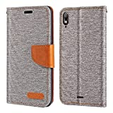 Wiko View 2 GO Case, Oxford Leather Wallet Case with Soft