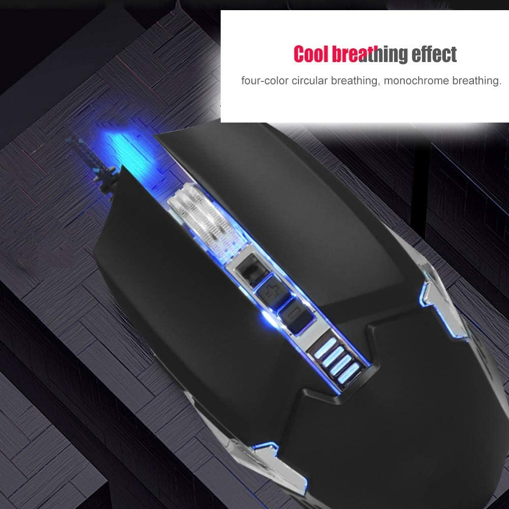 fosa USB Wired Mechanical Mouse Gaming Mouse Gray Nioseless Mechanical Mouse for M312 Mamba Snake Compatible with 4 Steps DPI Switch//Game Optical Engine for PC//Laptop
