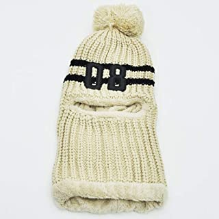 Knitted Hats for Women Plus Velvet Cycling Wooly Hat Female Cute Winter Wild Earmuffs Warm Scarf One-Piece Knit Cap