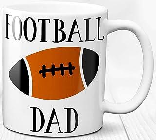 Taza de café de papá de fútbol 330 ml Regalo Padre Deporte Papá Atleta Amante del fútbol