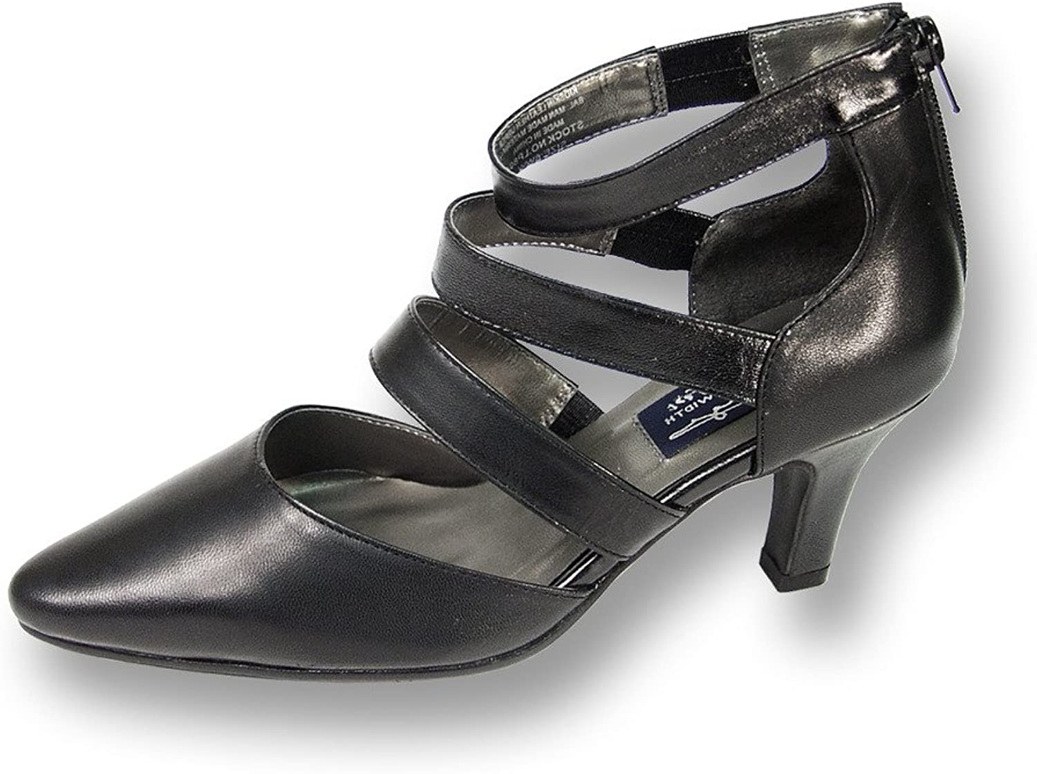 Peerage Lola Women Wide Width Leather Sexy and Nice Dress Pump