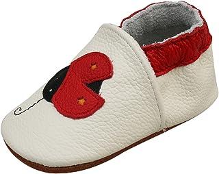 YASSON Chaussures Cuir Souple Bébé Fille Garçcon Chaussons Première Pas