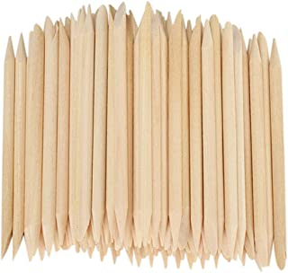 MagiDeal Cuticle Pusher Remover Manicure Wooden Sticks 3.15 Inch Length Lot of 100Pcs