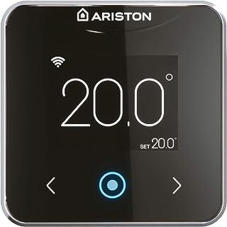 Ariston 3319126 Termostato inteligente Wifi Cube S Net cableado, Negro