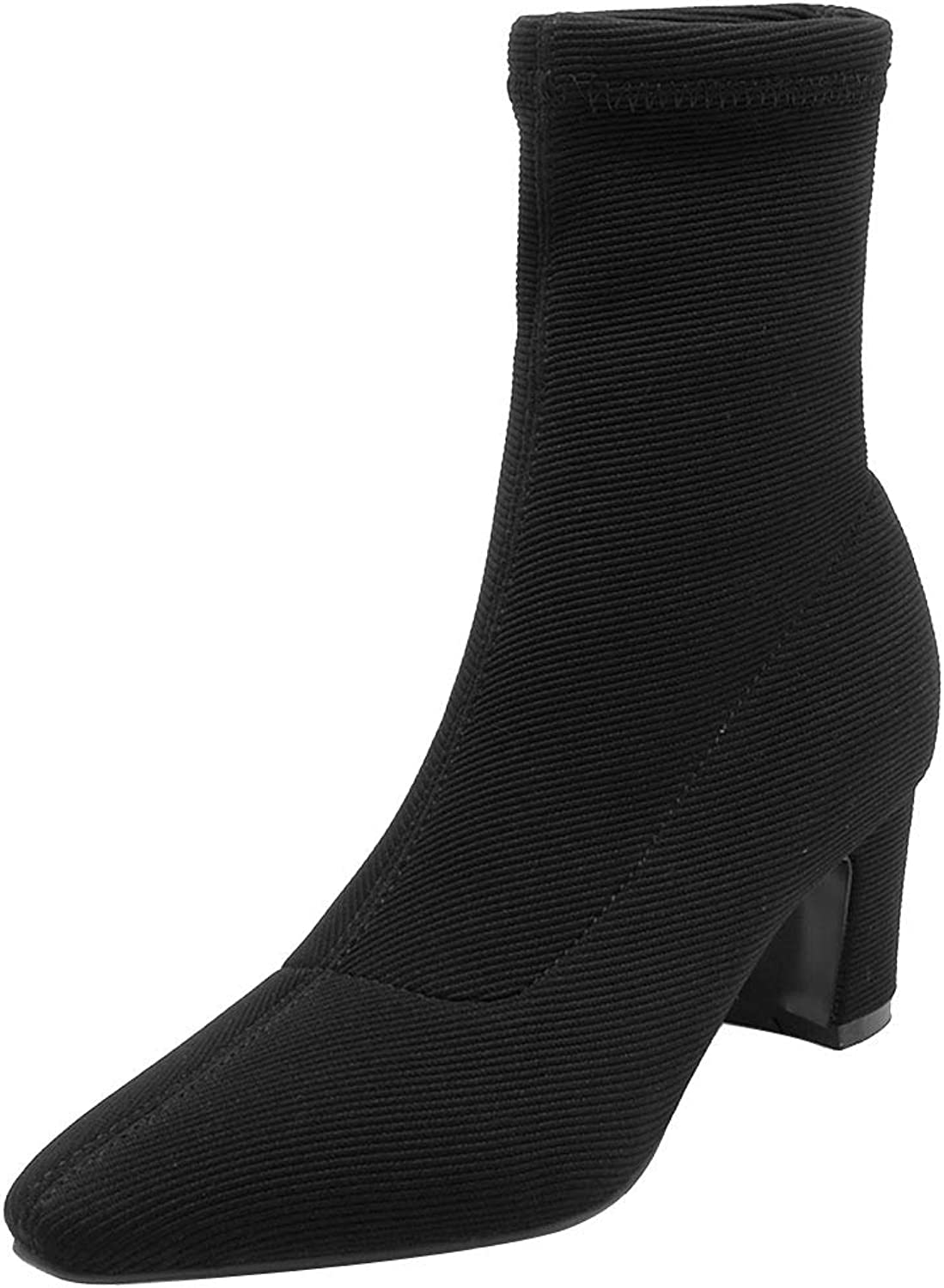 Luis Vuis Lady Block Heel Stretch Boots Pointed Toe Sexy