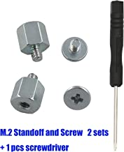Kalanution M.2 Standoff and Screw for M.2 Drives,Asus Motherboard M.2 Screw + Hex Nut Stand Off Spacer(2 Sets)+1 pcs Screwdriver