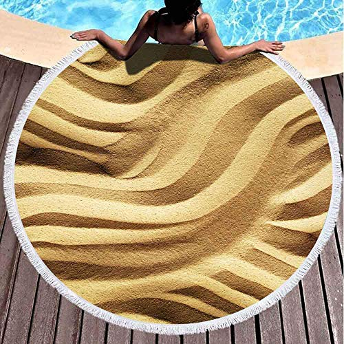 Toallas de playa redondas para niños, impresión a arena de 152 x 152 cm, toalla de playa grande redonda para niños, mujeres y niños