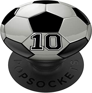 Soccer Player Number No 10 Football Ball Pop Socket PopSockets Grip and Stand for Phones and Tablets