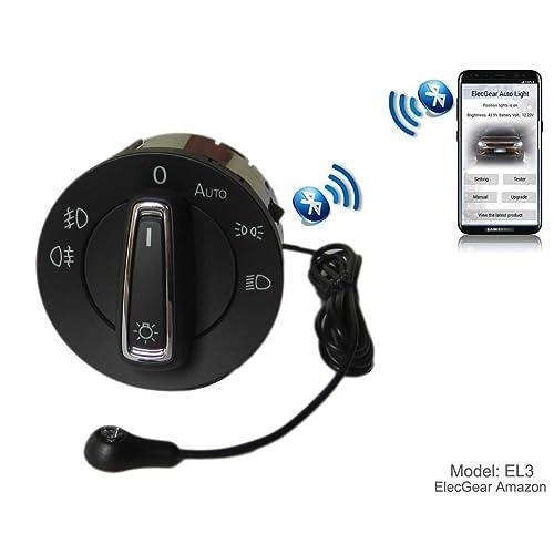 EL3 Bluetooth App Sensor de luz Faros interruptor, Faro Niebla Luces Antiniebla Interruptor de luz