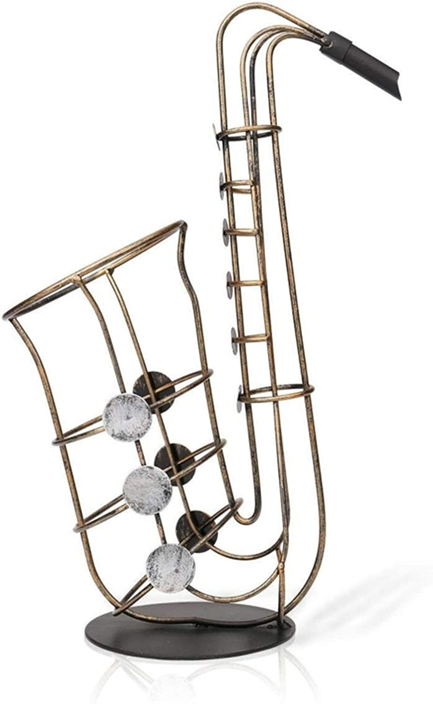 Metal Saxophone 55% OFF Wine Rack Holder Deco Creative Bottle unisex
