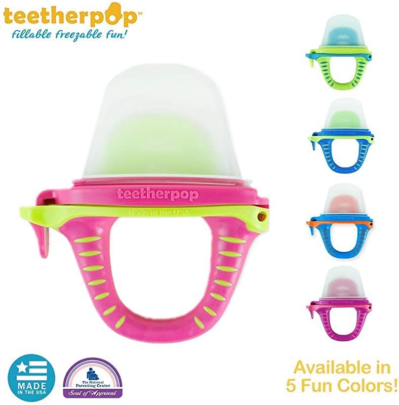 Teetherpop Fillable Freezable Baby Teething Popsicles For Purees Smoothies Juices Breast Milk More For Babies Toddlers Baby Teether Is USA Made BPA Free