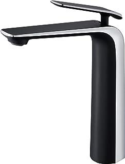 TOCALOCA Grifo para lavabo para baño, grifo para lavabo moderno de latón, grifo mezclador para lavabo con 1 orificio y una...