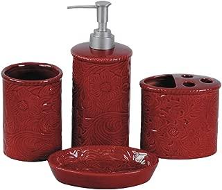 HiEnd Accents 4-pc Savannah Bathroom Set, Red Red/Western