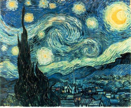 Stampa artistica di Van Gogh Notte stellata