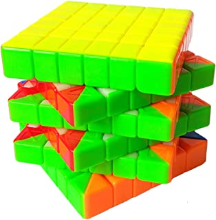 TANCH Speed Cube Cyclone BOY Stickerless 6x6x6 Magic Cube Puzzle Toy Colorful
