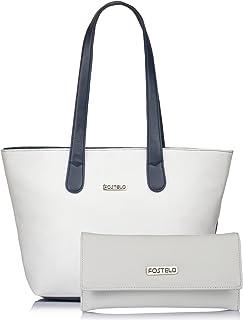 Fostelo Women's Handbag With Clutch (Set of 2) (FSB-1065-FC-31_Multicolored)