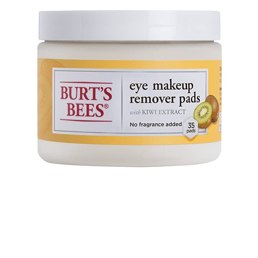 それに応じてキノコ時制Burt's Bees アイメイクリムーバーパッド、35カウント