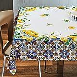 Alambbra - Mantel de cocina con impresión digital sobre algodón, diseño de fantasía para 6 plazas o 12 plazas (fantasía de 2, 6 plazas)