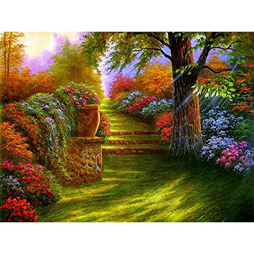 Garden—1000Pcs Jigsaw Puzzles for Adults,Cardboard Puzzles Set Brain Challenge Puzzle for Adult Family Good Educational Game