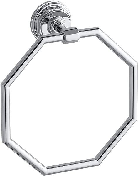 KOHLER K 13112 CP Pinstripe Bathroom Towel Ring Polished Chrome