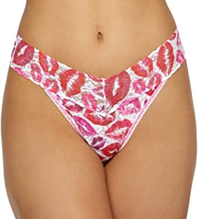Womens Rolled Love and Kisses Original Rise Thong