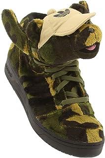 4e6de0c24427a3 adidas JS Camo Bear by Jeremy Scott Earth Green Black