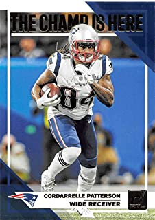 2019 Donruss Champ is Here #6 Cordarrelle Patterson New England Patriots Football Card