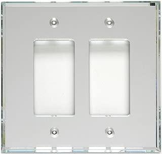 GlassAlike Double Decora Acrylic Mirror Switch Plate