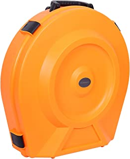Crossrock Rolling Case, Injection PE Cymbal Vault with Wheels in Orange, Fits up to 20
