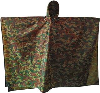 Kasiqi Chubasquero multifuncional, 3 en 1 de camuflaje para montañismo, gruesa a prueba de humedad para exterior (camuflaje)