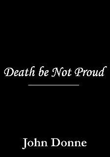 Death be Not Proud