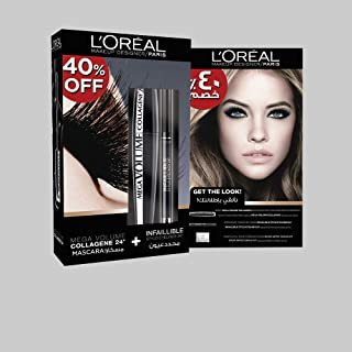 L'Oreal Paris Mega Volume Collagen Mascara And Infallible Eyeliner 301 Night Day Black Kit
