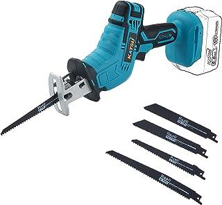 KATSU FIT-BAT 21V Cordless Reciprocating Saw, Battery Powered Mini Pruning Reciprocating Saw, 4pcs Blades Included, Idea f...