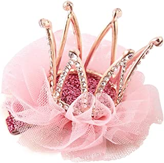 Girl's Diamond Crown Hair Pin Princess Flower Hair Clips Rhinestone Crystal Tiara Kids Party Hair Accessory