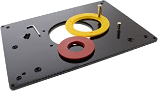 DCT Universal Router Table Saw Insert Base Plate Kit, 3-7/8, 2-5/8, 1-1/4 Inches – Cutter & Porter-Cable Template Guide