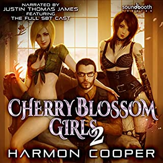 Couverture de Cherry Blossom Girls 2: A Superhero Harem Adventure