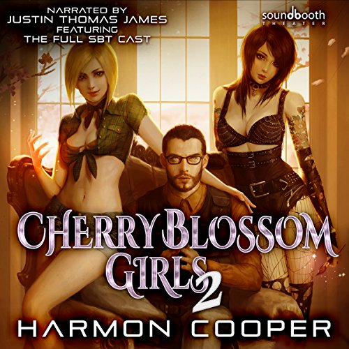 Cherry Blossom Girls 2: A Superhero Harem Adventure audiobook cover art