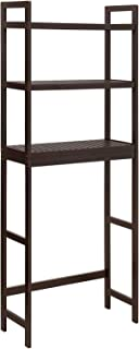 SONGMICS Over-The-Toilet Storage, 3-Tier Bathroom Organizer with Adjustable Shelves, Space Saver Toilet Rack, Load Capacity 33 lb per Tier, Easy to Assembly, Bamboo, Brown UBTS01BR