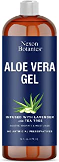 Aloe Vera Gel 16 fl oz - For Face, Hair and Skin - Extracted from 100% Pure and Natural Aloe Vera - Moisturizes, Hydrates ...