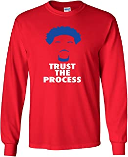 The Silo Long Sleeve Red Philadelphia Embiid Process T-Shirt