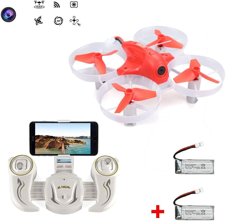 Cheerson CX95W Matador (+Extra Battery) WiFi Camera FPV Mini Drone - iOS Android - RC Quadcopter (orange)