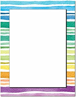 Watercolor Stripes Letterhead Laser & Inkjet Printer Paper, 100 pack