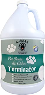 BUBBAS Super Strength Commercial Enzyme Cleaner - Pet Odor Eliminator | Enzymatic Stain Remover | Remove Dog Cat Urine Smell from Carpet, Rug or Hardwood Floor and Other Surfaces
