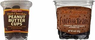 Dark Chocolate Bundle of 2: Trader Joe's Dark Chocolate Peanut Butter Cups and Dark Chocolate Covered Espresso Beans