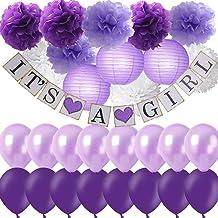 Purple Baby Shower Decoration Ideas from m.media-amazon.com