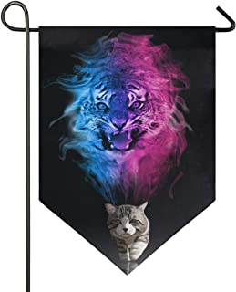 Bandera de jardín Gato o Tigre 12x18.5 Pulgadas (12