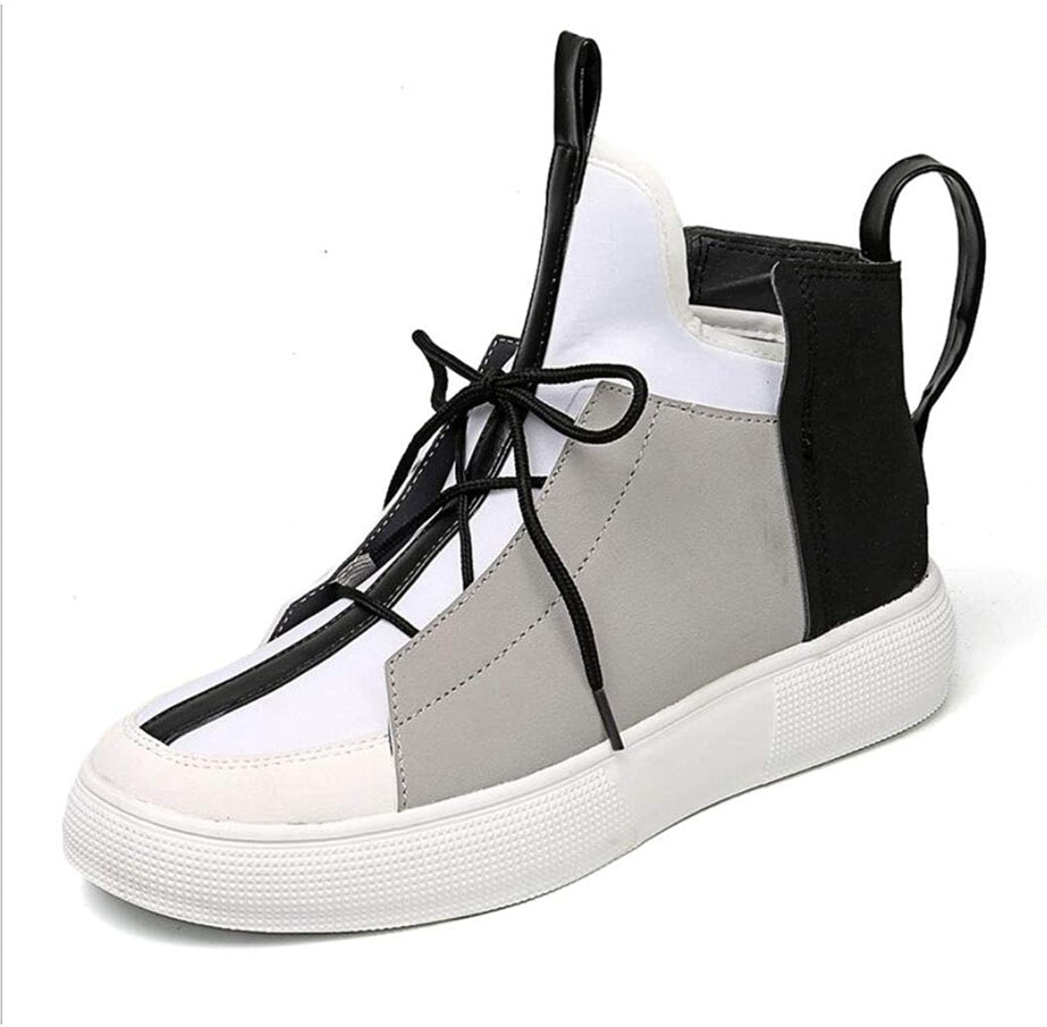 ZIXUAP Autumn and winter men's shoes student personality high to help casual shoes men's fashion Korean version of the trend of thick-soled sports shoes