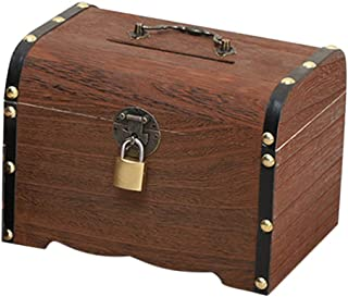 Money Box Treasure Chest in Red 10cm x 7cm x 8cm Money Box Piggy Bank Treasure Chest