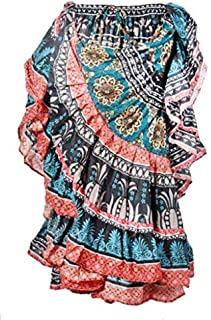 New Digital Print 25 Yard Yards Tribal Gypsy Belly Dancing Dance Skirt ATS
